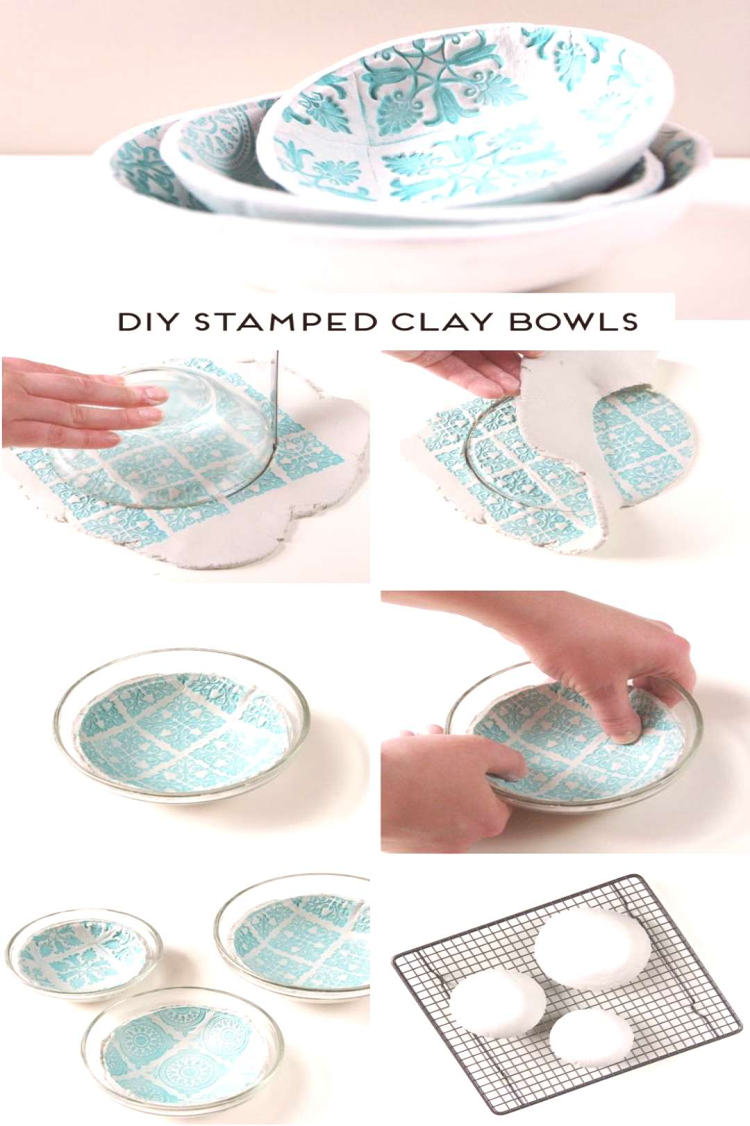 MAKE YOUR OWN DIY STAMPED CLAY BOWLS USING AIR DRY CLAY Learn how to make your own beautiful stampe
