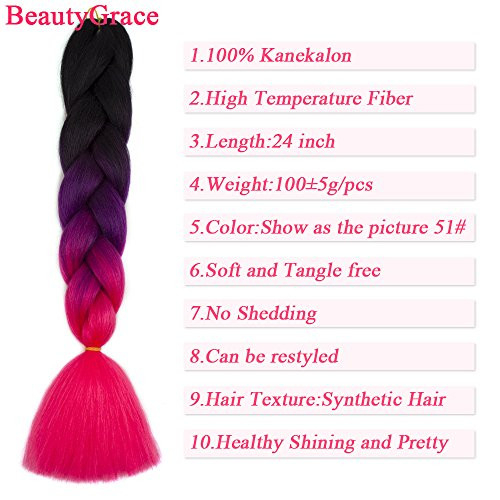 Ombre Braiding Hair Extensions Synthetic Afro Jumbo Twist