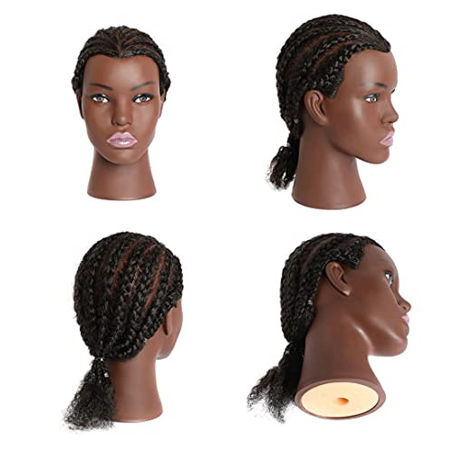 Phamb 10quot Afro Mannequin Head with 100% Human Hair African