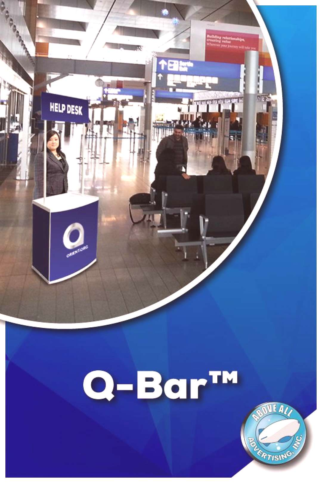 Q-Bar™ Setting up help-booths has never been easier! The sophisticated amp convenient Q-Bar™ feat