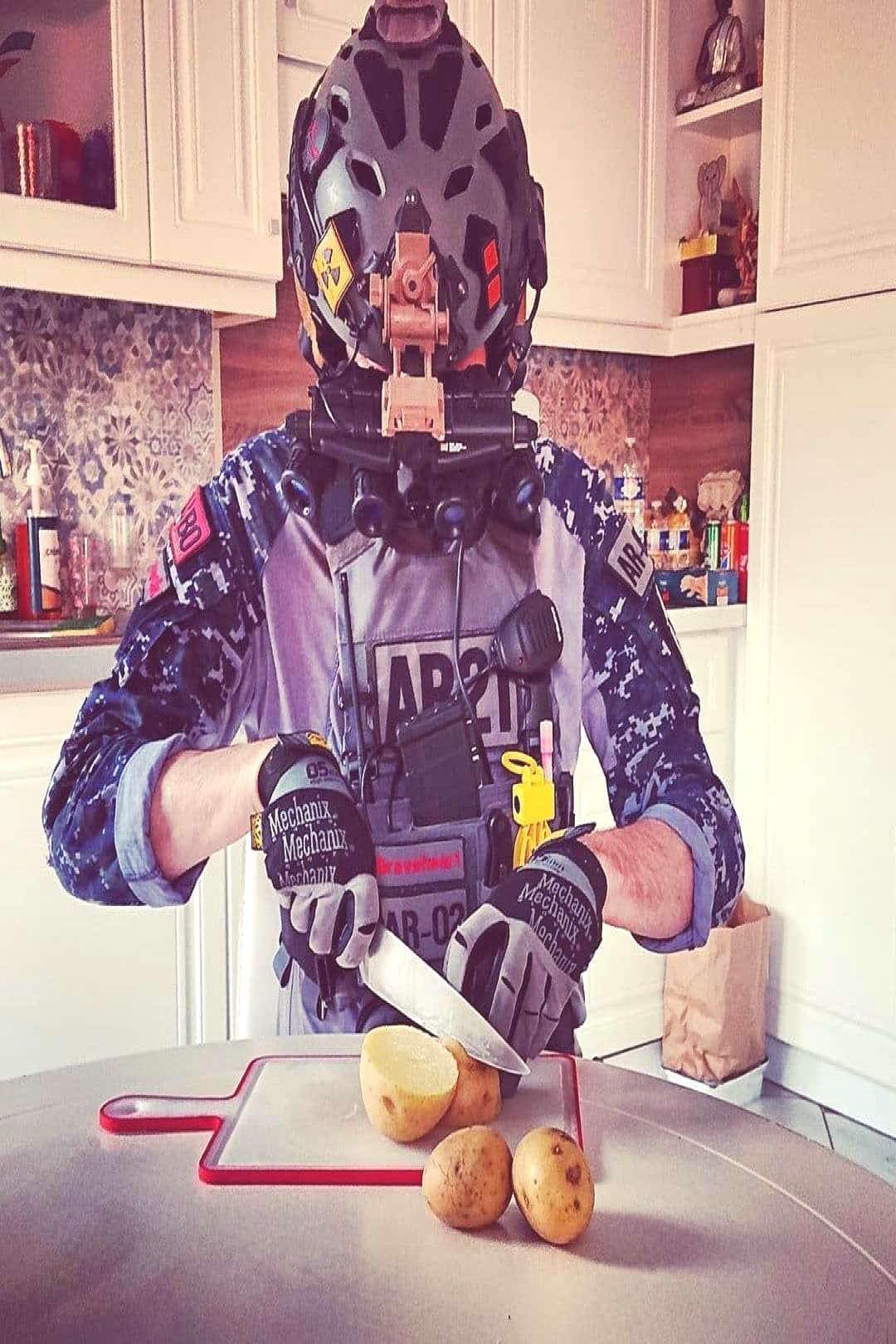 Reposted from @airsoft21rima Cooking gear TMC SF Helmet Shop here  Petite patate sauté Confinem
