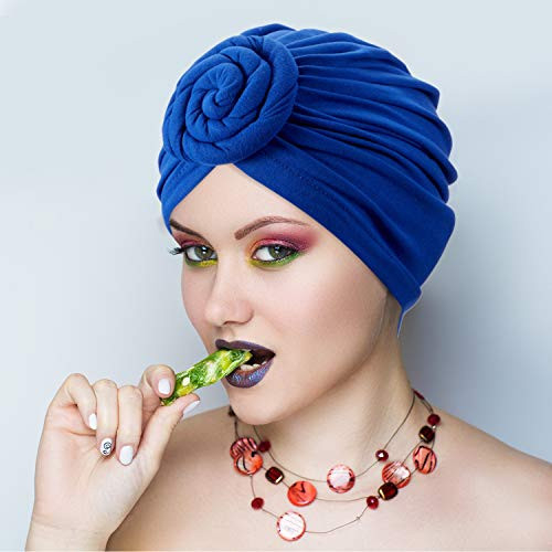 SATINIOR 3 Pieces African Turban for Women Knot Pre-Tied