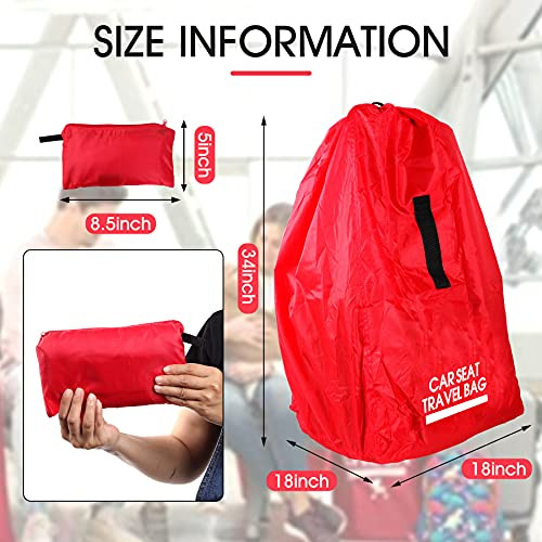 SCEHAO Car Seat Travel Bag,Universal Size Gate Check Bag