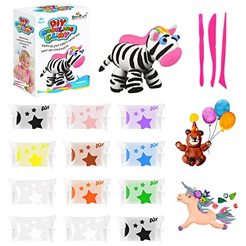 SWANGNIC 12 Packs Air Dry Clay Modeling Clay for Kids, Soft