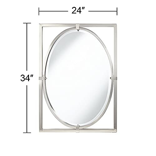 Uttermost Akita Brushed Nickel 24quot x 34quot Wall Mirror
